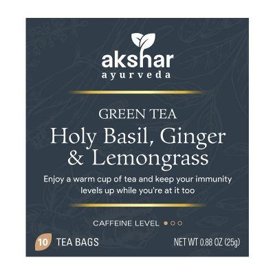 holy basil, ginger & lemongrass green tea