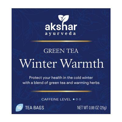 winter warmth green tea